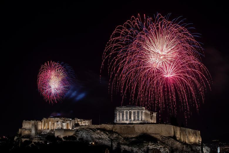 Atenas, Grecia - Así se recibió al 2021 alrededor del mundo