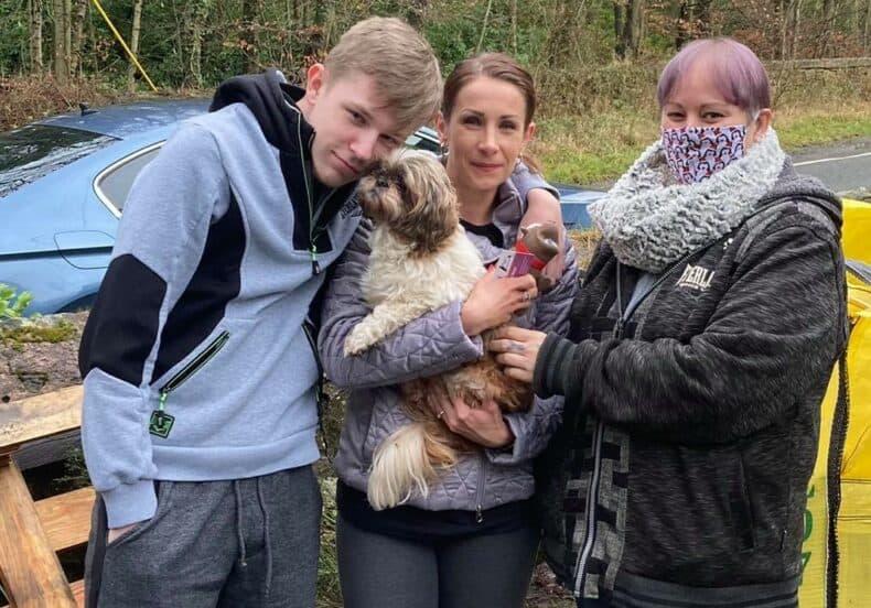 Una mujer logró reencontrarse con su perra perdida después de casi ocho años