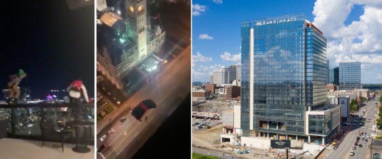 Dos hombres saltaron de la terraza de un hotel en Nashville y se les prohibió el ingreso de por vida
