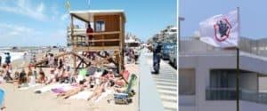 """Uruguay utilizó por primera vez la nueva bandera de """"aglomeración"""" en una de sus playas de Punta del Este"""