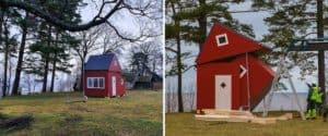 Estas casas pequeñas se pliega como si fuese de origami y se puede trasladar sin problemas