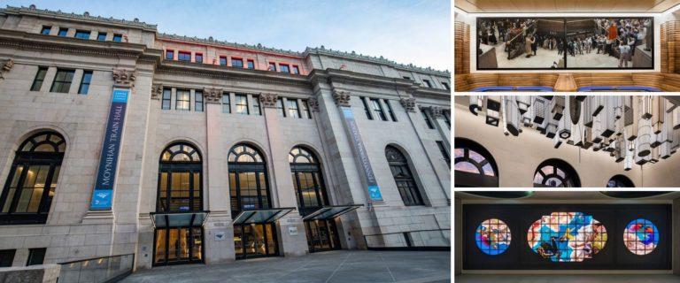 La estación de trenes Penn Station, Nueva York, fue remodelada y su nuevo hall recibe a los pasajeros con obras de arte