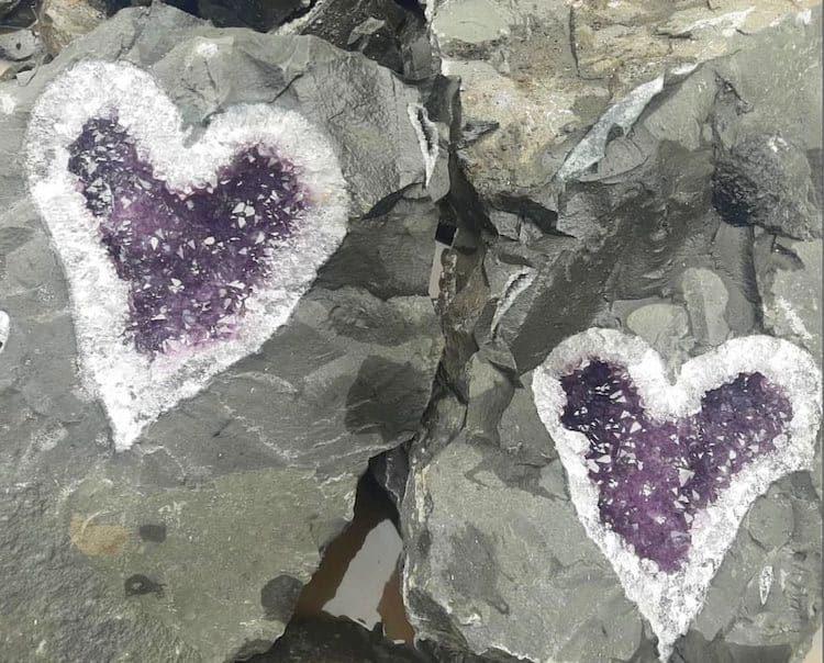 imagen geoda de amatista Mineros uruguayos descubren una increible geoda de amatista en forma de corazon 1