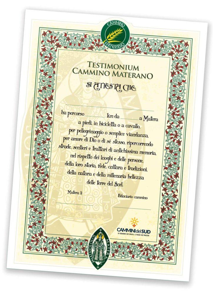 Cammino Materano testimonium1