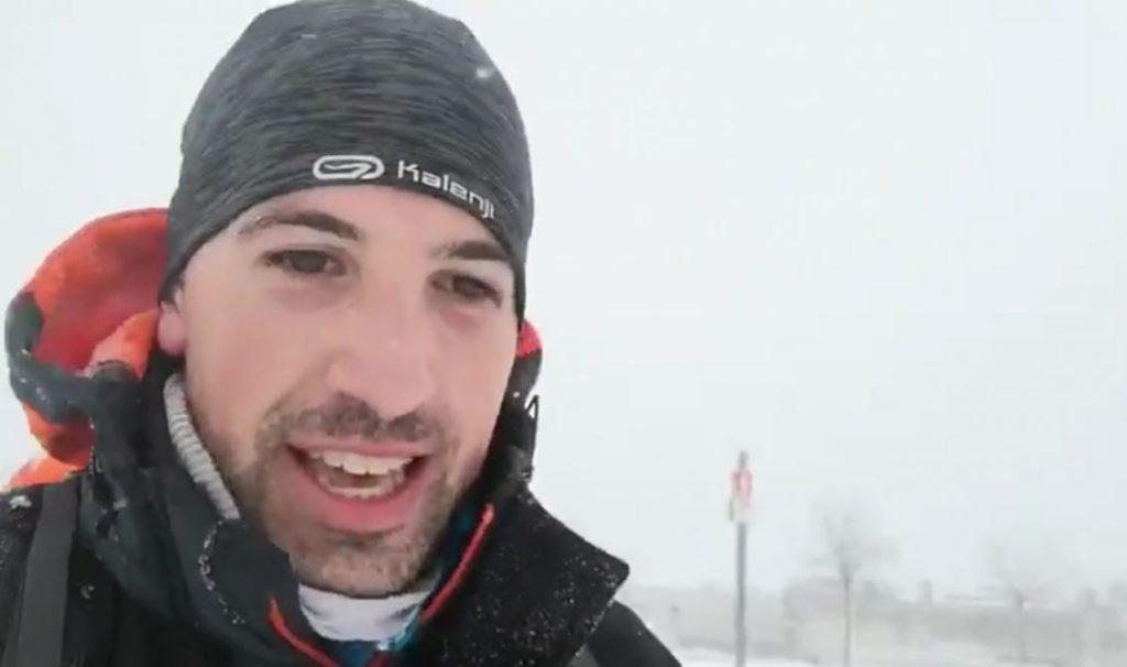 Madrid: Un médico recorrió 17 kilómetros a pie entre la nieve del temporal Filomena para cubrir su guardia