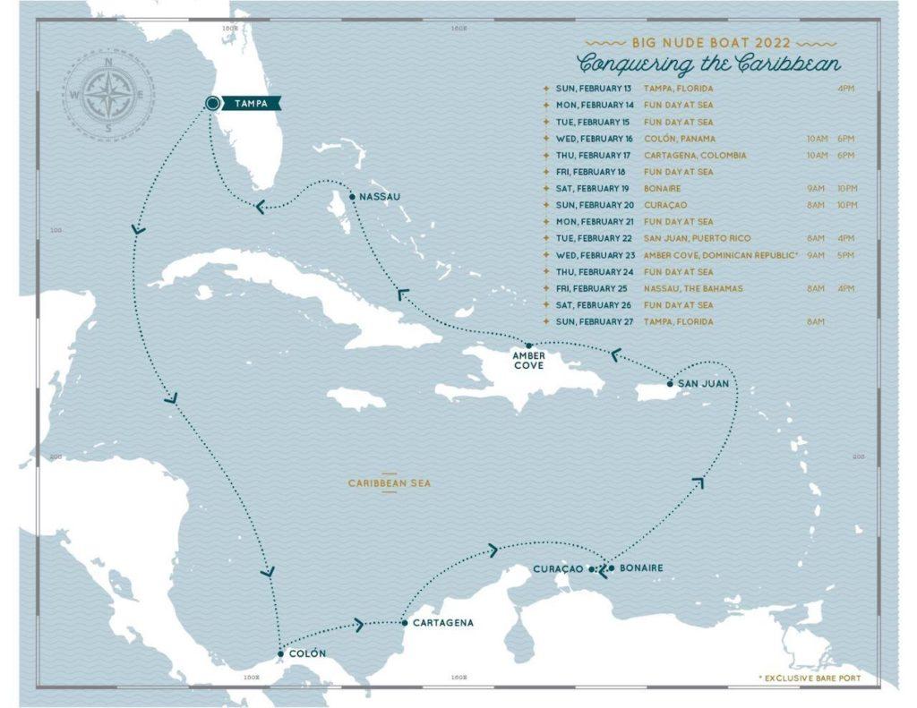 Esta compañía de cruceros nudista está lanzando dos semanas en 2022 a bordo del Carnival Pride, un crucero por el Caribe completamente desnudo