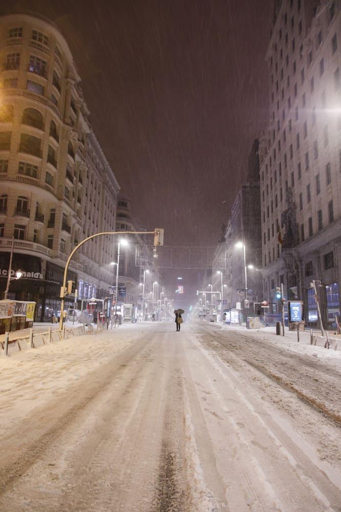 imagen calles de Madrid GALERIA Lo que Filomena dejo en las calles de Madrid 12 las mejores fotografias de una ciudad tenida de un historico temporal de nieve