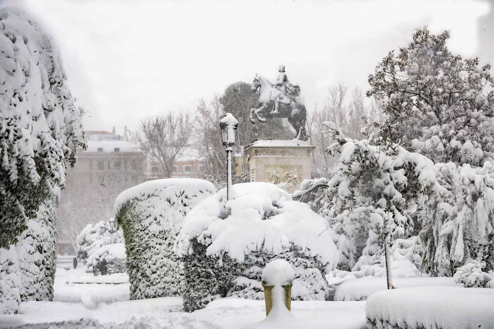 imagen calles de Madrid GALERIA Lo que Filomena dejo en las calles de Madrid 7 las mejores fotografias de una ciudad tenida de un historico temporal de nieve