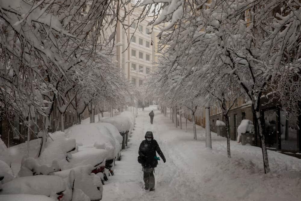 imagen calles de Madrid GALERIA Lo que Filomena dejo en las calles de Madrid 4 las mejores fotografias de una ciudad tenida de un historico temporal de nieve