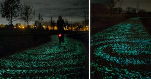 ciclovía inspirada en la 'Noche estrellada'