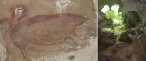 Descubren una obra de arte rupestre en una cueva de Indonesia y sería la más antigua del mundo