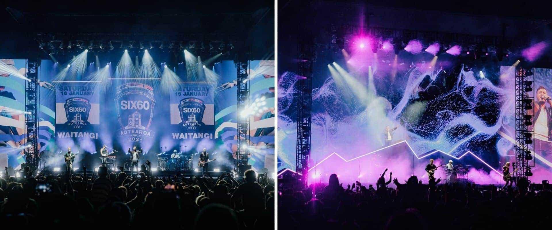 Miles de personas disfrutaron de un concierto al aire libre en Nueva Zelanda
