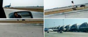 Un conductor 'giró en sentido incorrecto' y terminó manejando sobre la pista de aterrizaje del aeropuerto de Bangkok, Tailandia