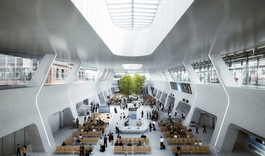 """China tendrá una """"Estación de tren en el bosque"""" que será mitad parque y mitad estación de tren"""