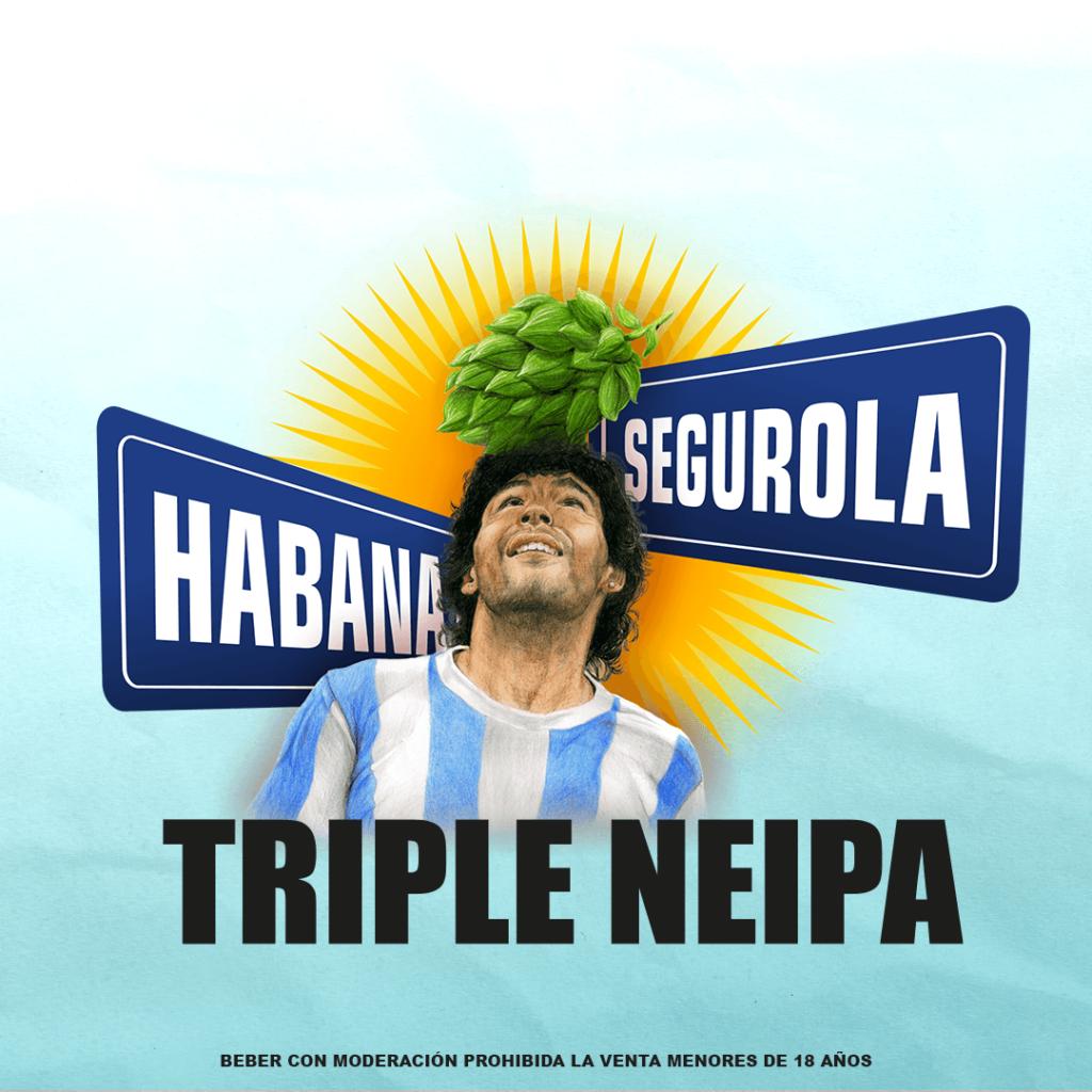Lanzan Segurola y Habana Triple NEIPA una cerveza en homenaje a Diego Armando Maradona que se volvió furor en Argentina