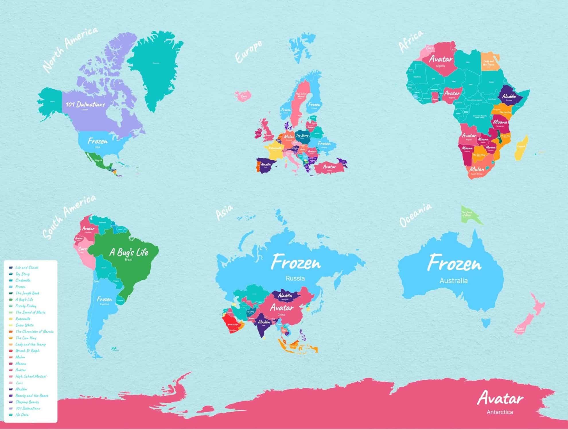 Estas son las películas favoritas de Disney alrededor del mundo