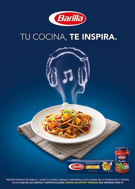 Una marca italiana de pastas ha creado playlists de Spotify que duran lo que tarda en cocinarse cada uno de sus platos