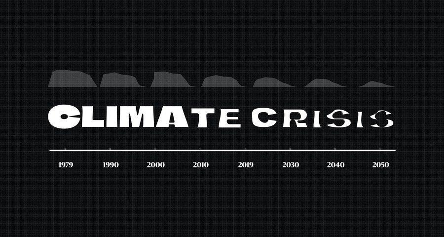 """Periódico finlandés lanza """"The Climate Crisis Font"""", una tipografía que refleja el ritmo del calentamiento global a través del grosor de sus letras"""