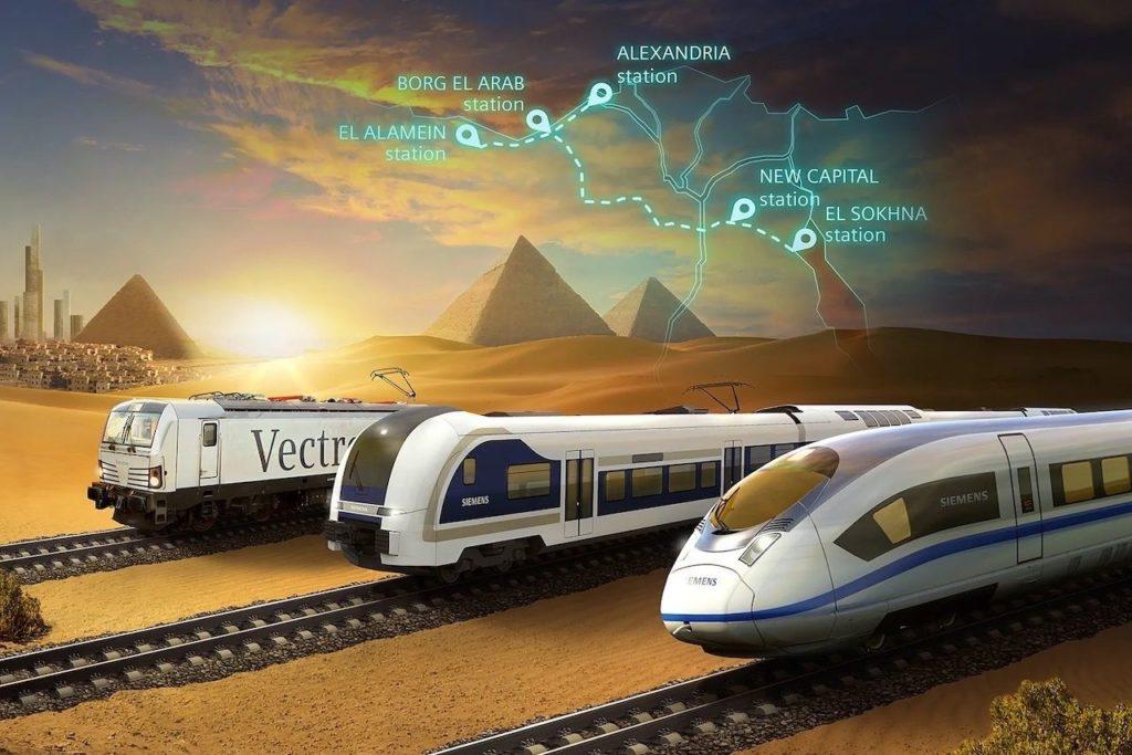 Egipto construirá el primer tren de alta velocidad del Mar Rojo al Mediterráneo