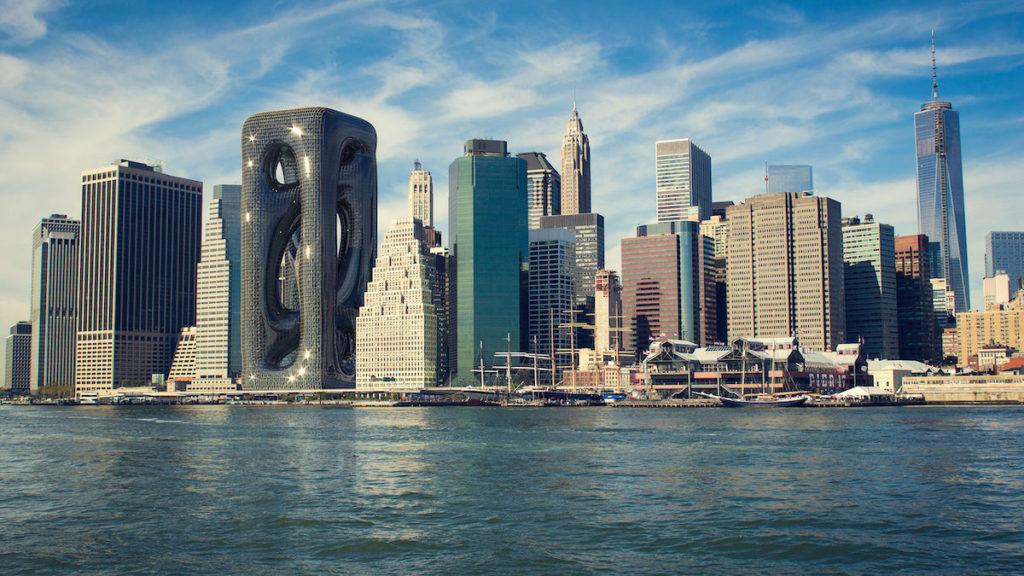 imagen Sarcostyle Tower Arquitectos proponen la construccion del Sarcostyle Tower una torre inspirada en las fibras musculares para destacar en el paisaje de Nueva York