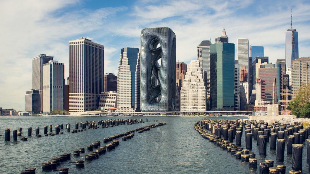 imagen Sarcostyle Tower Arquitectos proponen la construccion del Sarcostyle Tower una torre inspirada en las fibras musculares para destacar en el paisaje de Nueva York 2 1
