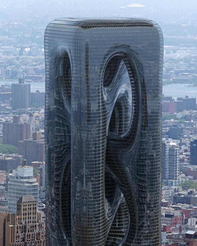 Arquitectos proponen la construcción del 'Sarcostyle Tower', una torre inspirada en las fibras musculares para destacar en el paisaje de Nueva York
