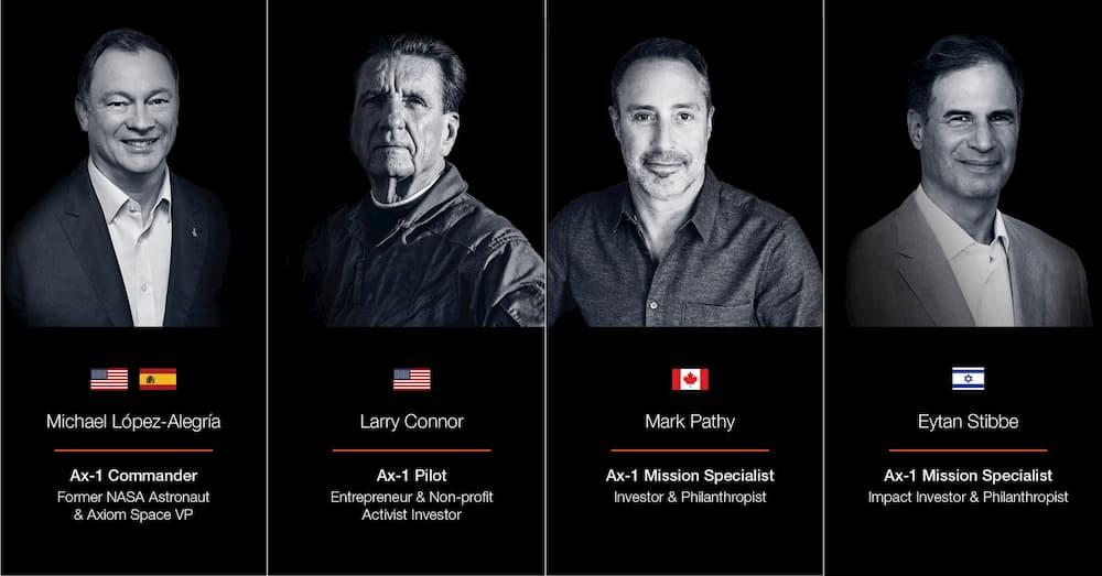 Axiom Space revela quiénes son los cuatro miembros de la primera tripulación que será enviada a la Estación Espacial Internacional