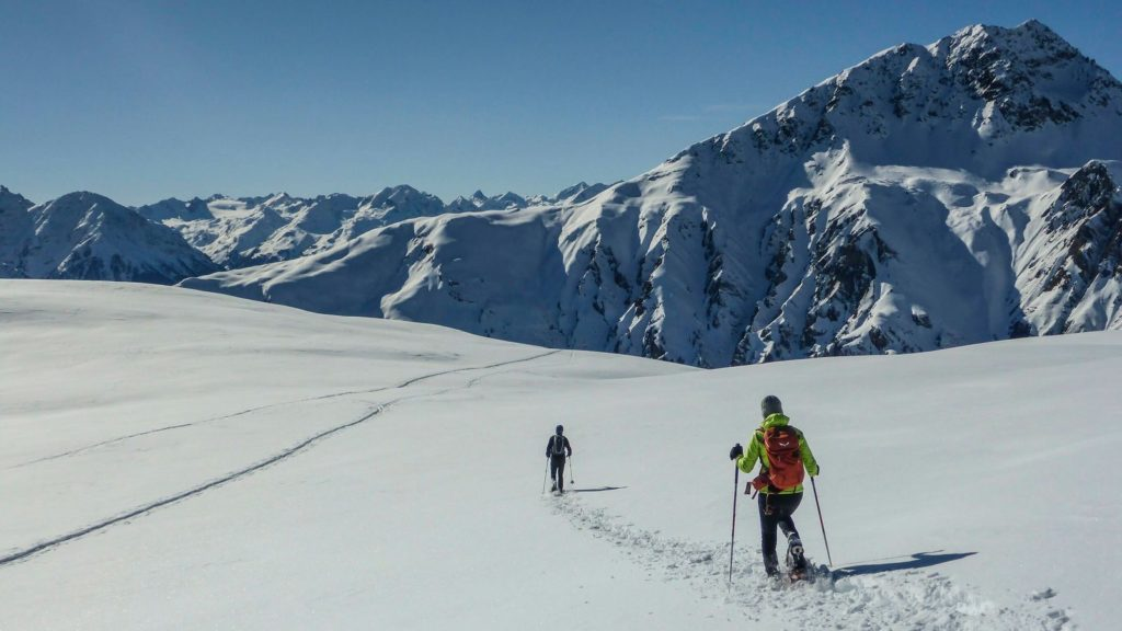 imagen avalancha caminantes nieve