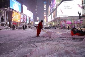 Te mostramos en fotos cómo fue la increíble nevada de Nueva York que puso en pausa a gran parte de su población