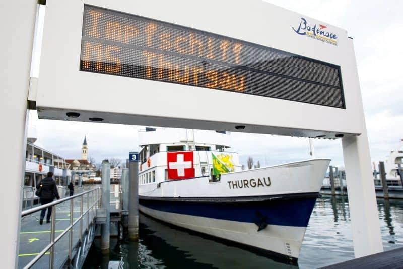 Un crucero de Suiza ha sido convertido en un centro de vacunación contra el COVID-19