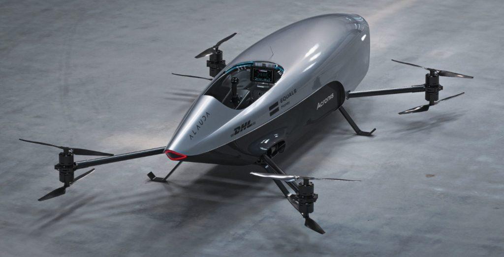 Presentaron el primer auto de carreras volador y puede alcanzar una velocidad de 120 kilómetros por hora