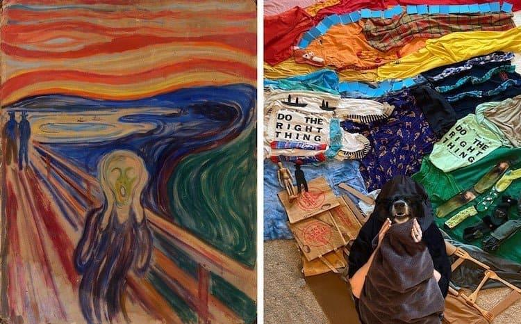 imagen pinturas famosas famous artwork recreation 5