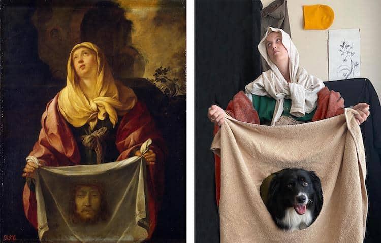 imagen pinturas famosas famous artwork recreation 7