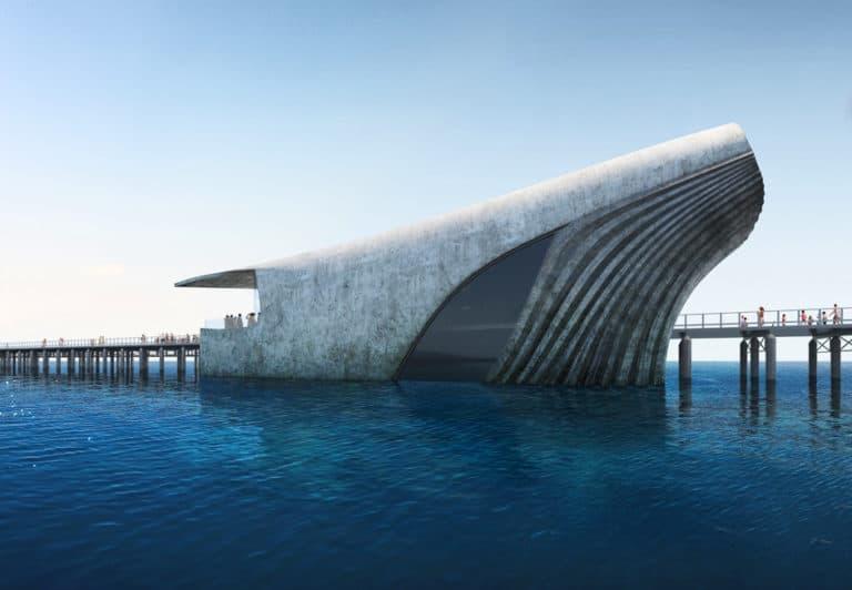 El nuevo observatorio submarino de Australia se levantará desde el océano como una ballena