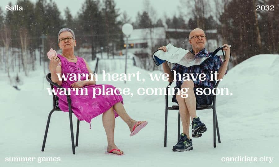 Juegos Olímpicos de verano El pueblo mas frio de Finlandia presenta su candidatura a los Juegos Olimpicos de verano en 2032 para concienciar sobre el cambio climatico 2