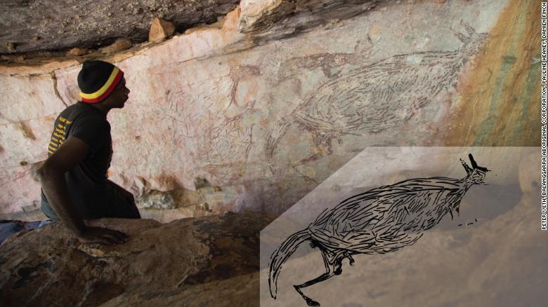 Australia: una pintura rupestre de un canguro tiene 17.000 años de antigüedad y es la más antigua del país