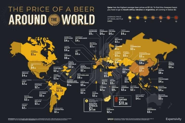 mapa cerveza