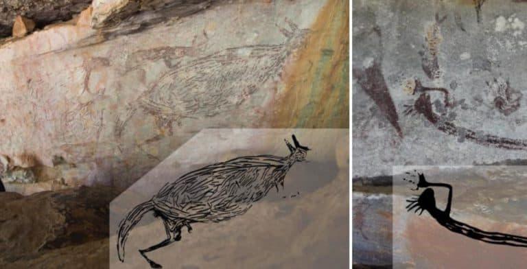 Descubren que una pintura rupestre de un canguro tiene 17.000 años de antigüedad y es la más antigua de Australia