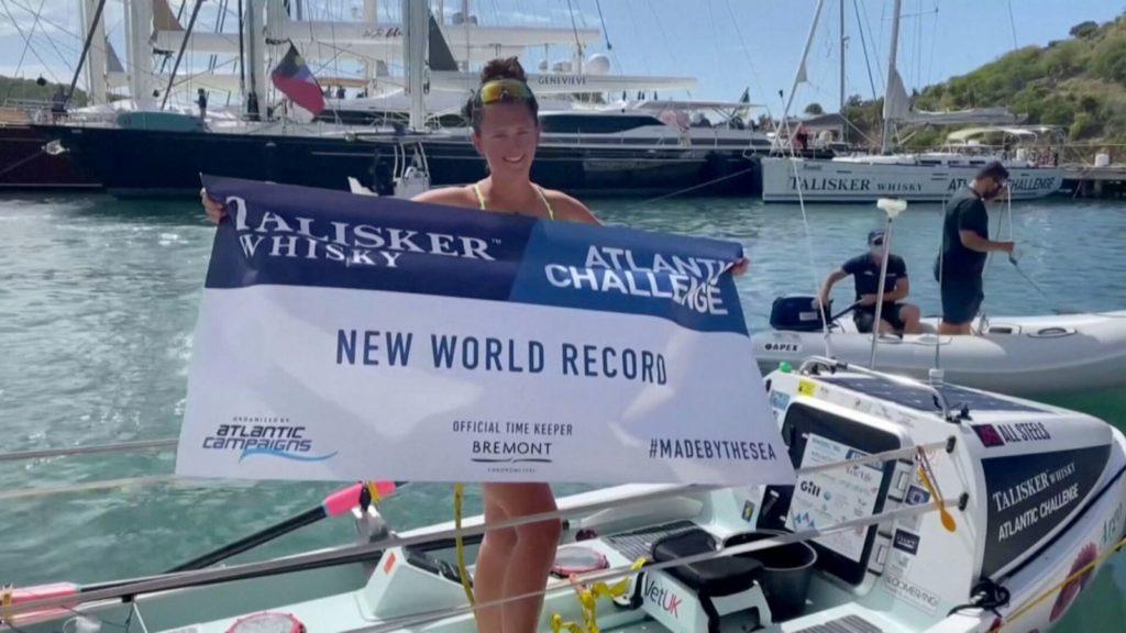 Esta joven de tan solo 21 años se convirtió en la primera mujer en remar sola en el océano Atlántico