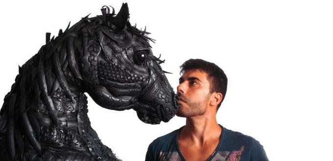Artista Madrileño Resucita Los Neumáticos Usados En Animales O Guerreros Y Los Resultados Son Increíbles