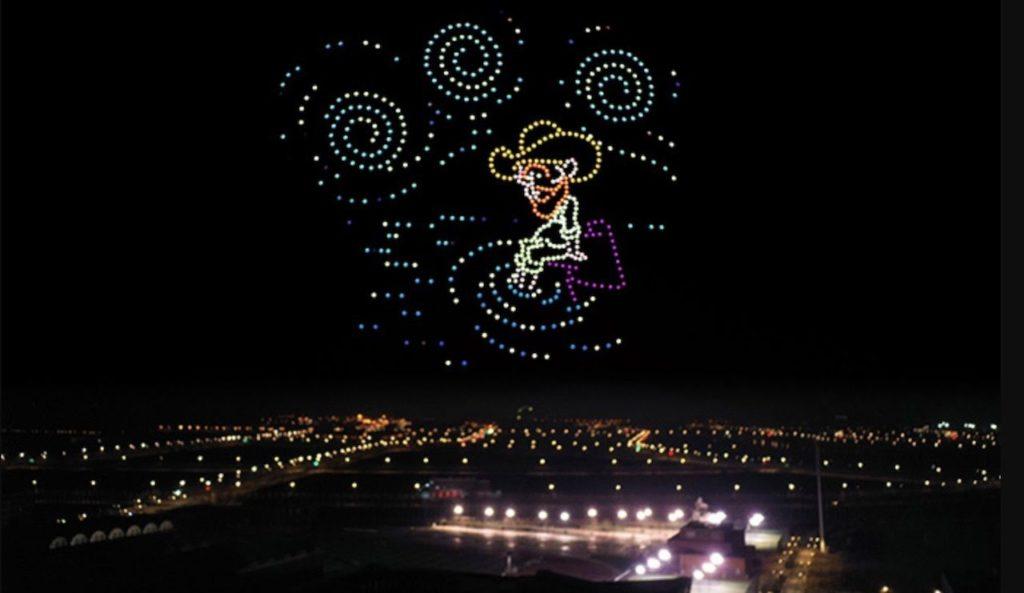 600 drones recrearon las pinturas más famosas de Van Gogh en el cielo nocturno de la ciudad de Tianjin, al norte de China