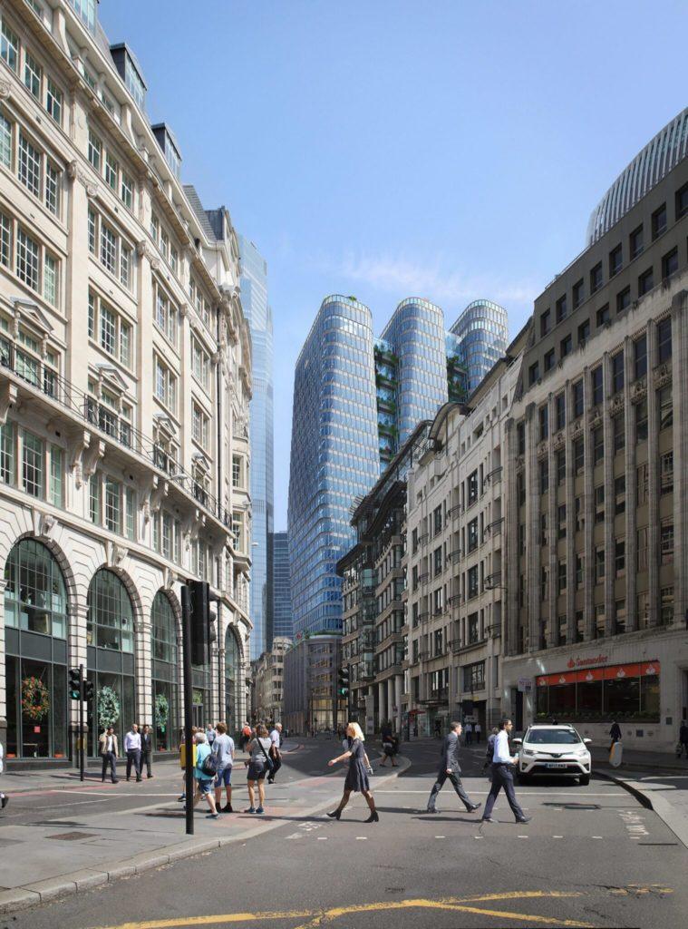 Construirán En Londres Tres Rascacielos Interconectados De 154,7 Metros De Alto: Se Podrá Disfrutar De Una Plataforma De Observación En Sus Pisos Superiores