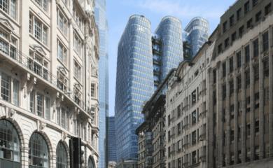 Construirán en Londres tres rascacielos interconectados de 154,7 metros de alto se podrá disfrutar de una plataforma de observación en sus pisos superiores 1