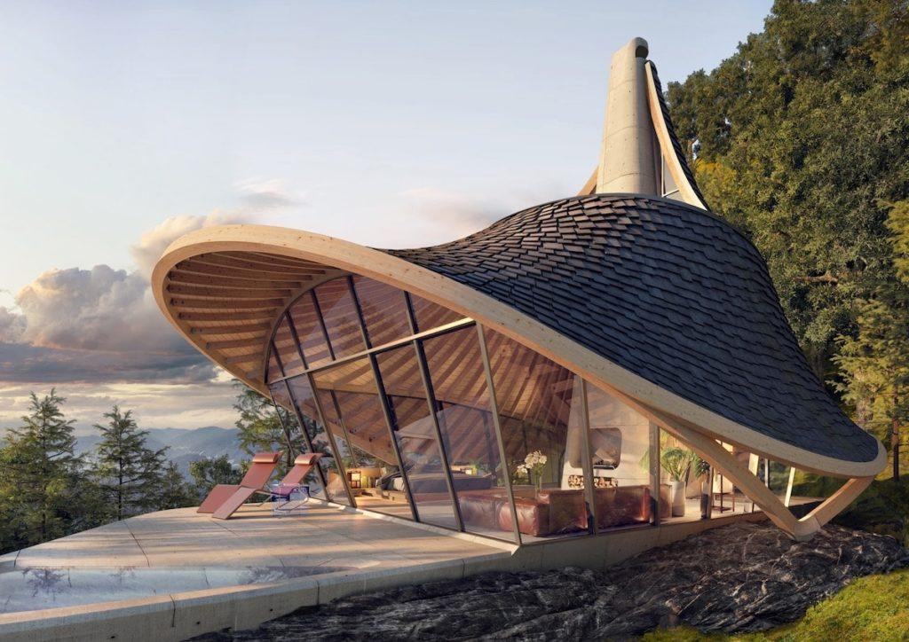 Japón: Esta Insólita Y Sorprendente Cabaña Situada En La Isla De Hokkaido Fue Diseñada ¡Con Un Algoritmo!