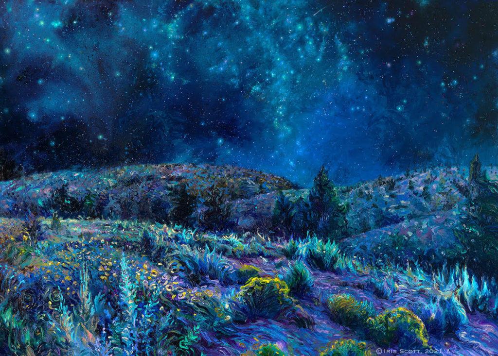Esta Artista Que Pinta Con Los Dedos Ha Recreado La Increíble Pintura De Un Desierto Al Caer La Noche