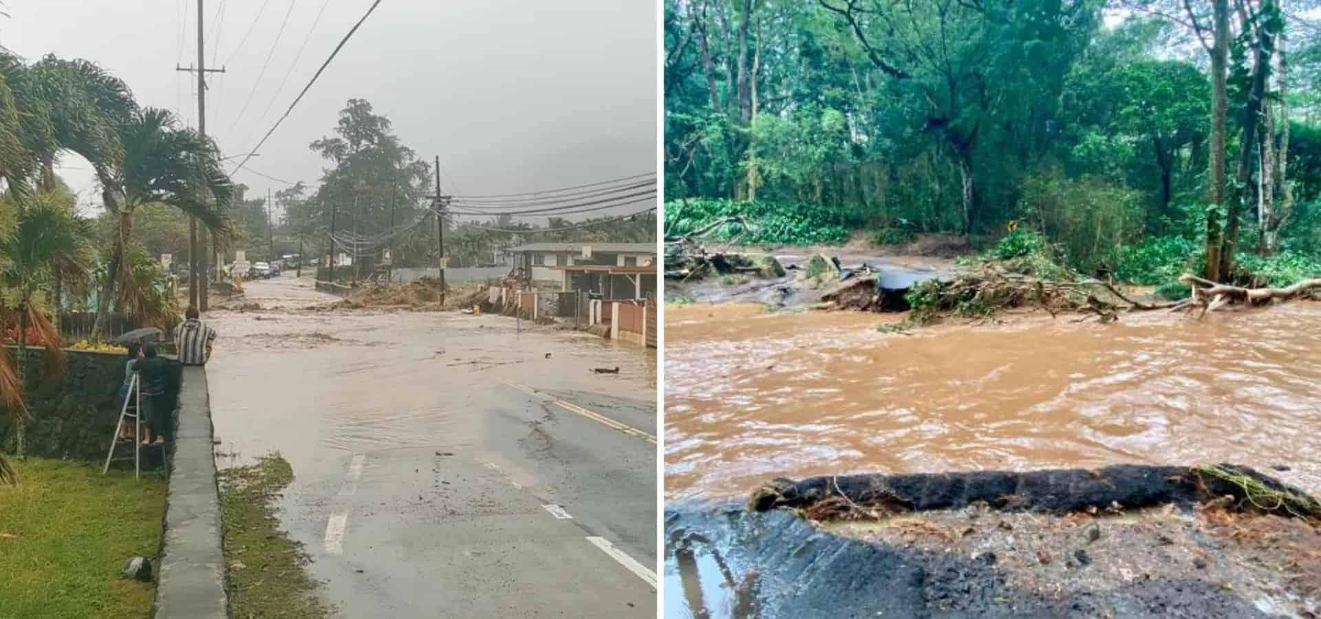 Hawái declaró el estado de emergencia luego de las fuertes inundaciones