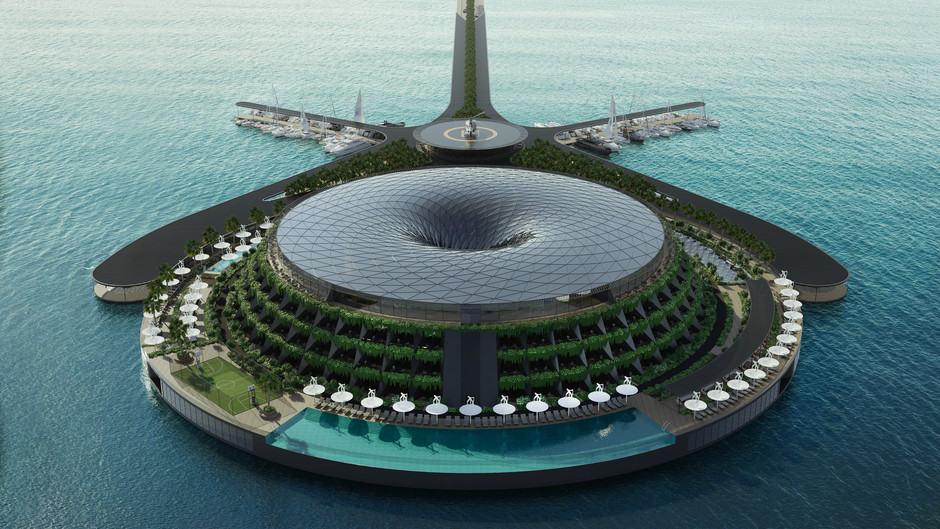 Eco-Floating Hotel: Un Lujoso Hospedaje De Cinco Estrellas, Flotante Y Ecológico En Qatar