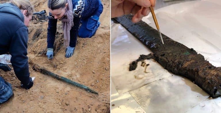 Encuentran una espada de bronce de 3.000 años de antigüedad y está en perfecto estado
