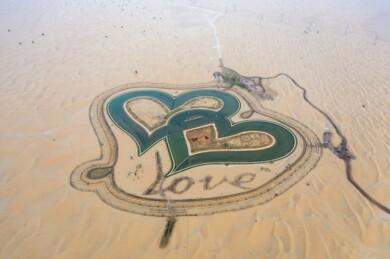 Conoce 'Love Lake', un insólito lago en forma de corazón ubicado en medio del desierto cerca de Al Qadra, en Dubái 6