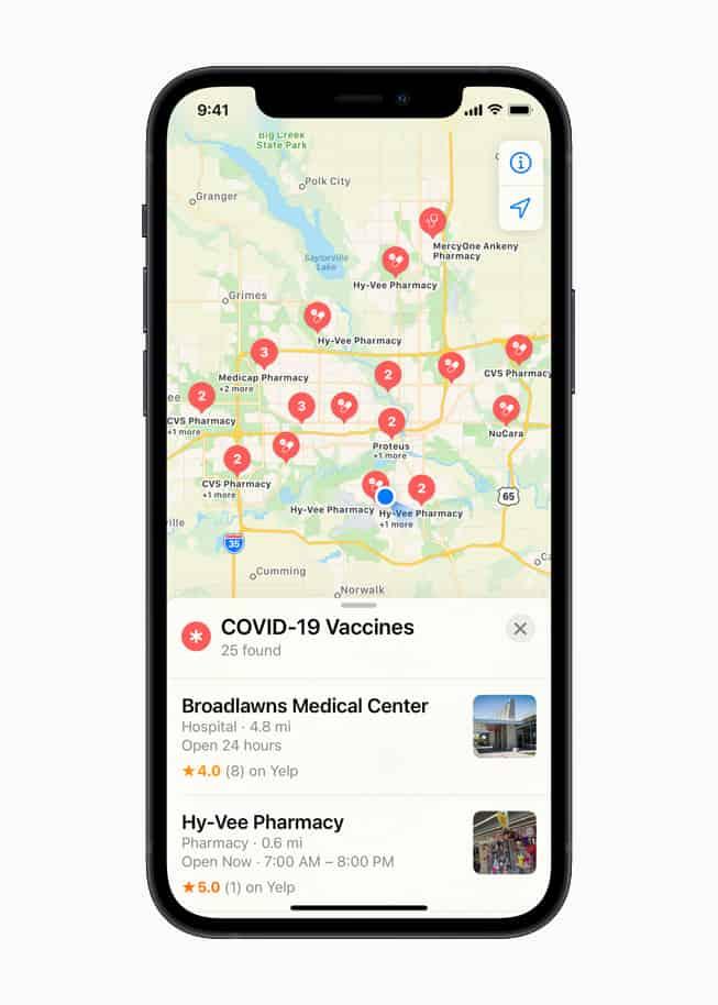 Apple Maps Muestra Cuáles Son Los Sitios De Vacunación Contra Covid-19 Más Cercanos